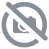 Serviette de plage mandala bleu/orange (150 cm)